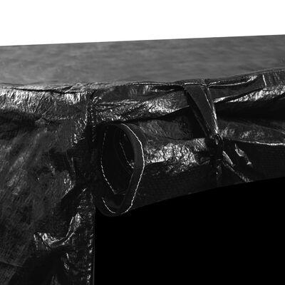 vidaXL Покривало за градинска люлка, 10 капси, 2 ципа, 255x145x170 см