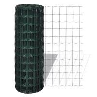 vidaXL Оградна мрежа, стомана, 25 x 0,8 м, зелена