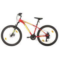 vidaXL Планински велосипед, 21 скорости, 27,5 цола, 38 см, червен