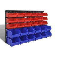 Комплект кошове за съхранение на вещи, 30 броя, цвят син и червен