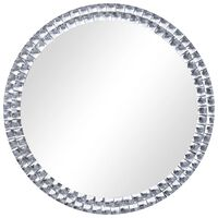 vidaXL Стенно огледало, сребристо, 70 см, закалено стъкло