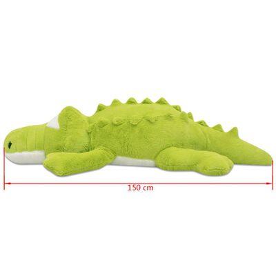 vidaXL Плюшена играчка крокодил, XXL, 150 см