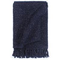 vidaXL Декоративно одеяло, лурекс, 220x250 см, тъмносиньо