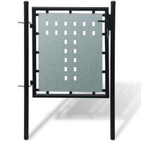 Единична оградна врата, 100 х 150 см, черна
