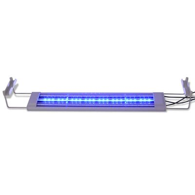 vidaXL Светодиодна лампа за аквариум, 50-60 см, алуминий IP67