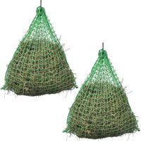 vidaXL Мрежа за сено, 2 бр, кръгла, 1x1 м, полипропилен