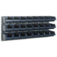Raaco Стелаж за стена x2 с 24 контейнера 181228