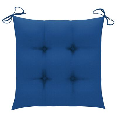 vidaXL Възглавници за градински столове, 6 бр, сини, 40x40x7 см, плат
