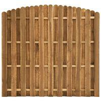 vidaXL Оградно пано вертикални дъски, борово дърво, 180x(155-170) см