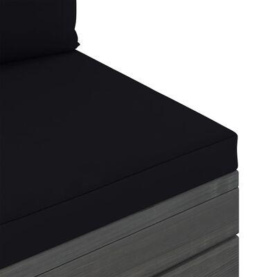 vidaXL Градински лаундж комплект палети възглавници 6 части бор масив