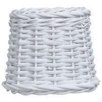 vidaXL Абажур, плетена ракита, 15x12 см, бял