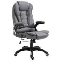 vidaXL Офис стол, антрацит, изкуствена кожа