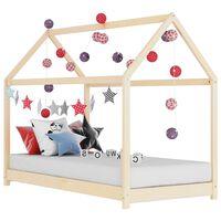 vidaXL Рамка за детско легло, бор масив, 80x160 см