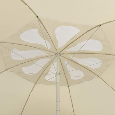 vidaXL Плажен чадър, пясъчножълт, 300 см