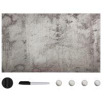 vidaXL Магнитна дъска за монтаж на стена, стъклена, 100x60 см