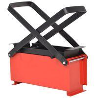vidaXL Преса за брикети от хартия стомана 34x14x14 см черно и червено