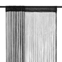 vidaXL Пердета ресни, 2 бр, 100x250 см, черни
