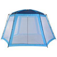 vidaXL Палатка за басейн, текстил, 500x433x250 см, синя