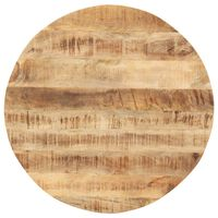 vidaXL Плот за маса, мангово дърво масив, кръгъл, 15-16 мм, 80 cм