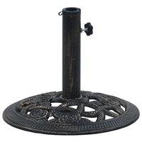vidaXL Поставка за чадър, черно и бронз, 9 кг, 40 см, чугун