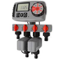 42352 vidaXL Автоматичен напоител с 4 станции 3 V