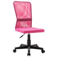 vidaXL Офис стол, розов, 44x52x100 см, мрежест плат