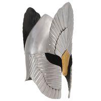vidaXL Фентъзи рицарски шлем, антична реплика, сребрист, стомана