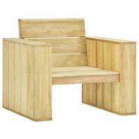 vidaXL Градински стол, 89x76x76  см, импрегнирано борово дърво