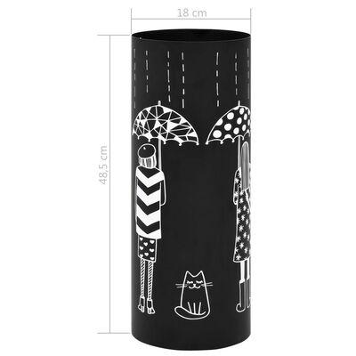 """vidaXL Поставка за чадъри """"Жени"""", стомана, черна"""
