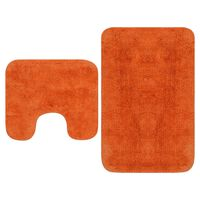 vidaXL Комплект постелки за баня, 2 бр, текстил, оранжеви