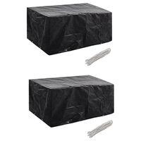 vidaXL Калъфи за полиратанова градинска мебел 2 бр 8 капси 180x140 см