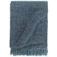 vidaXL Декоративно одеяло, памук, 125x150 см, индигово синьо