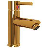 vidaXL Смесител за баня, златист, 130x176 мм