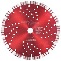 vidaXL Диамантен режещ диск с турбо и отвори, стомана, 230 мм