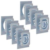 vidaXL Укрепващи пръстени за товар, 8 бр, поцинкована стомана, 2000 кг