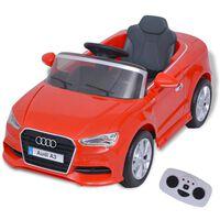 vidaXL Електрически детски автомобил с дистанционно, Audi A3, червен