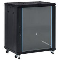 "vidaXL 18U Сървърен шкаф с въртящи се крака 19"" IP20 800x600x1000 мм"