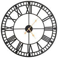 vidaXL Винтидж стенен кварцов часовник, метал, 60 см, XXL