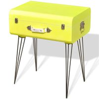 vidaXL Страничен шкаф, 49,5x36x60 см, жълт