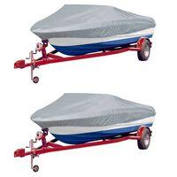 vidaXL Чохли за лодки, 2 бр, сиви, дължина 427-488 см, ширина 229 см