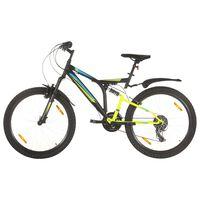 vidaXL Планински велосипед, 21 скорости, 26 цола, 49 см, черен