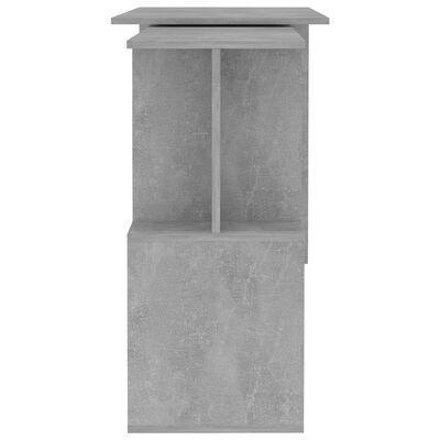 vidaXL Ъглово бюро, бетонно сиво, 200x50x76 см, ПДЧ