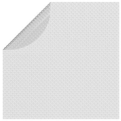 vidaXL Плаващо соларно покривало за басейн PE 210 см сиво