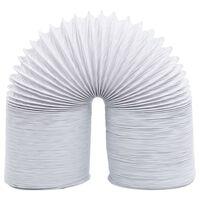 vidaXL Шлаух за въздуховод, PVC, 6 м, 10 см