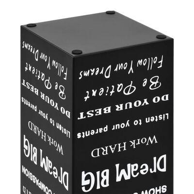 """vidaXL Поставка за чадъри """"Текст"""", стомана, черна"""