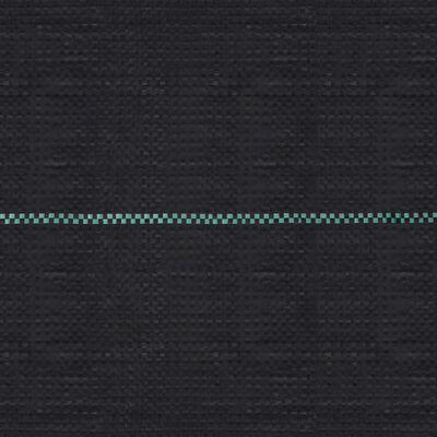 vidaXL Мрежа за мулчиране, матово черна, 1x200 м, PP