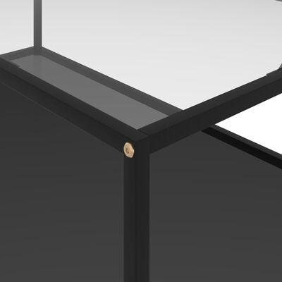 vidaXL Маса за чай, прозрачно и черно, 120x60x35 cм, закалено стъкло
