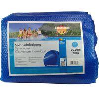 Summer Fun Лятно соларно покривало за басейн кръгло 300 см PE синьо