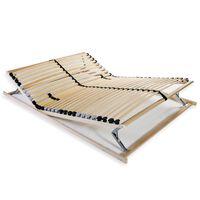 vidaXL Подматрачна рамка с 28 ламела, 7 зони, 100x200 см