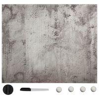 vidaXL Магнитна дъска за стенен монтаж, стъкло, 60x60 см